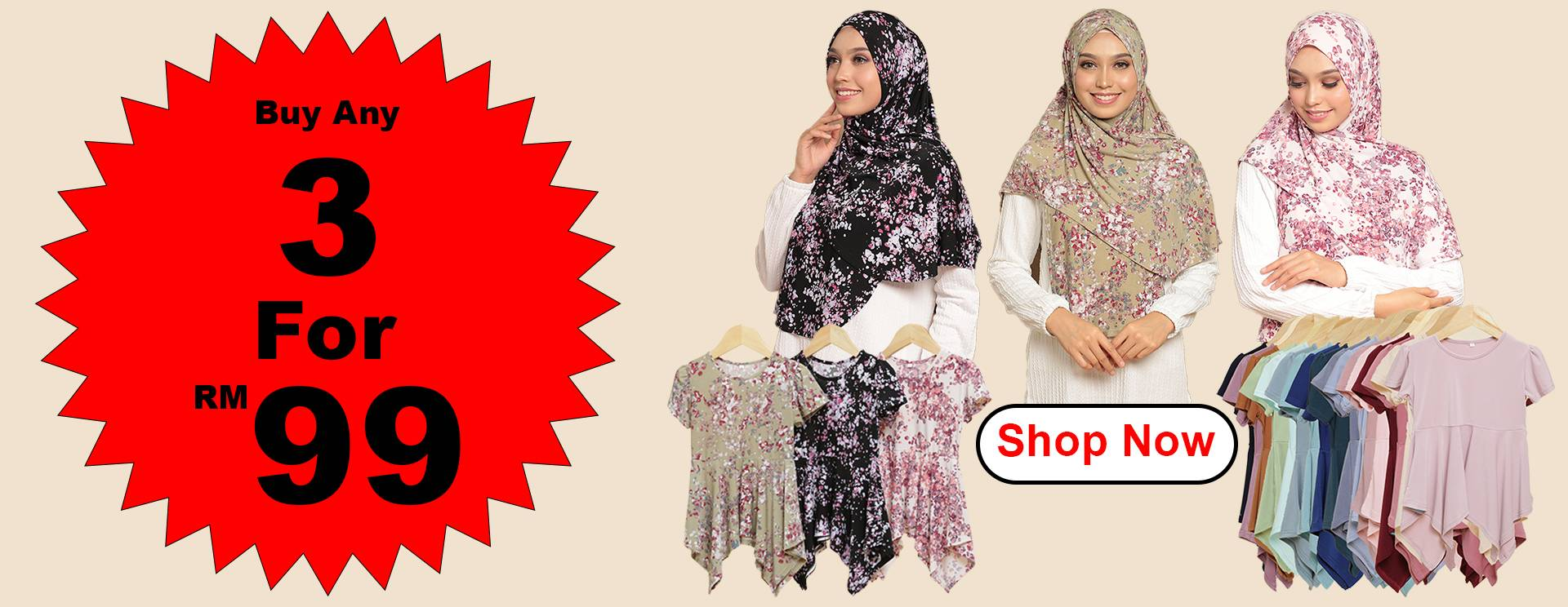 Buy any 3 Items for RM99