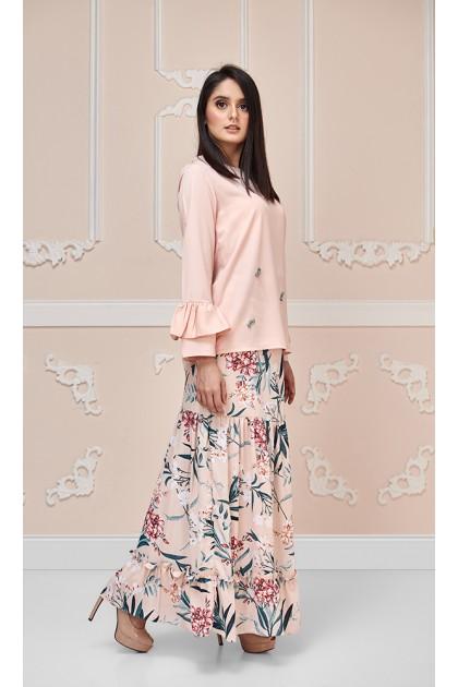 Hannah Maxi Skirt in Peach