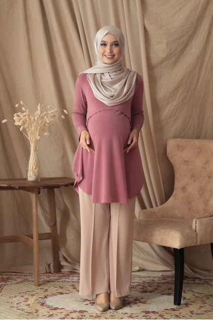 Melissa Top in Mauve Pink