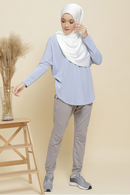 Nicole Batwing Top in Baby Blue