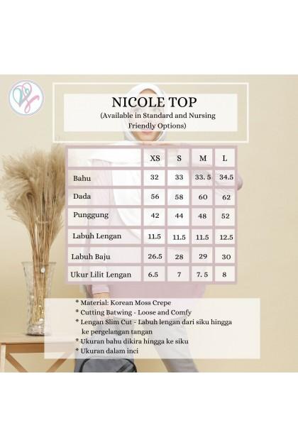 Nicole Batwing Top in Peach