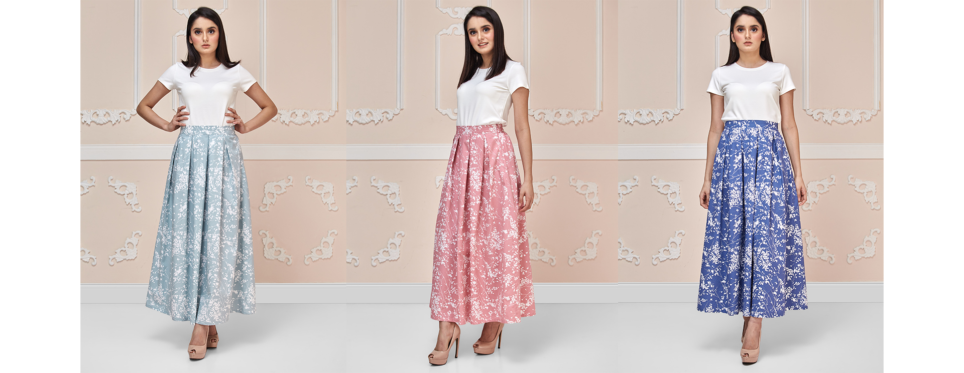 Blossoms Maxi Skirt